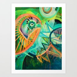 Spikes Art Print