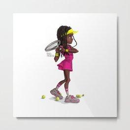 Tennis Girl Metal Print