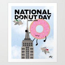 National Donut Day 2018 Art Print