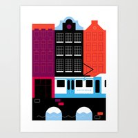 Postcards from Amsterdam / Tram Art Print