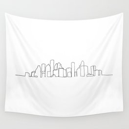 Houston Skyline Drawing Wall Tapestry
