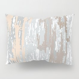 Grey brown Colors Gradient pattern.  light-grey, modern, decor, Society6 Pillow Sham
