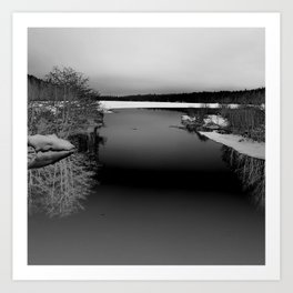 Then There is Cold... in Black and White Art Print