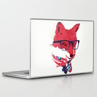 american Laptop & iPad Skins featuring American Fox by Robert Farkas