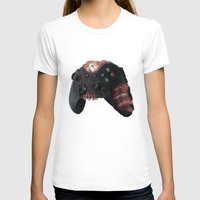 xbox T-shirts featuring Zombie Xbox One Controller by Peyeyo