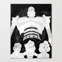 iron giant Canvas Prints featuring The Iron Giant by TheGiz