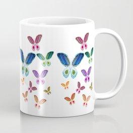 A Rainbow of Agate Butterflies Coffee Mug