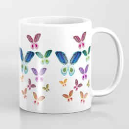 A Rainbow of Agate Butterflies Coffee Mug