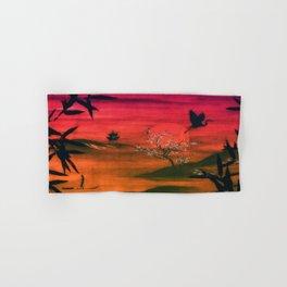 Oriental Sunset Hand & Bath Towel