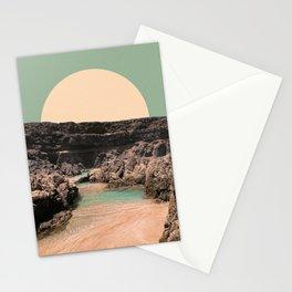 Mid-Century Beach Photo Illustration Collage Stationery Cards