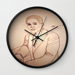 Langston Hughes by Double R Wall Clock