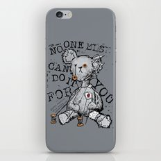 NO ONE ELSE CAN DO IT FOR YOU - grey iPhone & iPod Skin