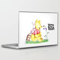 piglet Laptop & iPad Skins featuring Winnie the Pooh & Piglet by laura nye.