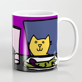Woman yelling at cat Meme - Yellow Cat steps in for Smudge Coffee Mug
