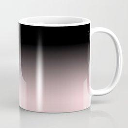 Modern abstract elegant black blush pink gradient pattern Coffee Mug