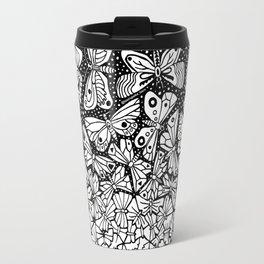 Butterflies tessellation. Escher. 1950 Travel Mug