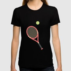 #19 Tennis SMALL Black Womens Fitted Tee