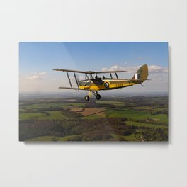 Tiger Moth in flight Metal Print