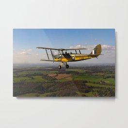 Tiger Moth in flight Metal Print