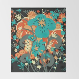 Grettel's Bouquet Throw Blanket