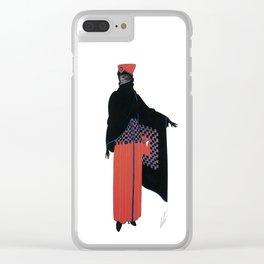 "Art Deco Design ""Zza Zza"" by Erté Clear iPhone Case"