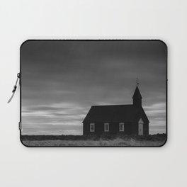 Budakirkja, the black church in Iceland Laptop Sleeve