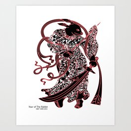 Chinese zodiac sign, Year of the Rabbit Art Print