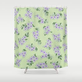 The Little Lilac Flowers are Home; In Memory of Mackenzie Shower Curtain