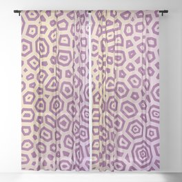 Experimental pattern 17 Sheer Curtain