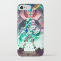 gurren lagann iPhone & iPod Cases featuring Gurren Lagann - This Drill will pierce the Heavens by Brian Hollins art