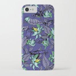 The Sea Garden - deep blue iPhone Case