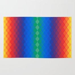 Rainbow rombs Rug