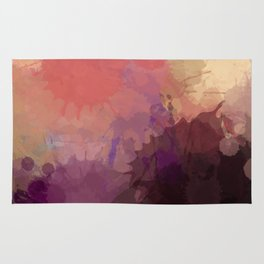 Modern Contemporary Ultra Violet Glow Abstract Rug