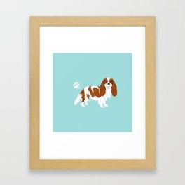 Cavalier King Charles Spaniel blenheim funny farting dog breed gifts Framed Art Print