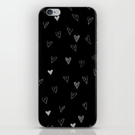 Ink hearts pattern 2 iPhone Skin