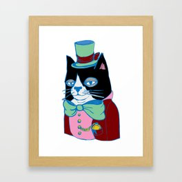 Dignified Cat Does Pastels Framed Art Print