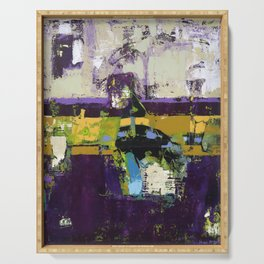 Controversy Prince Deep Purple Abstract Painting Modern Art Serving Tray