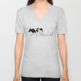 Cow vs. Chicken Unisex V-Neck