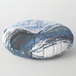 Gray-blue watercolor Floor Pillow