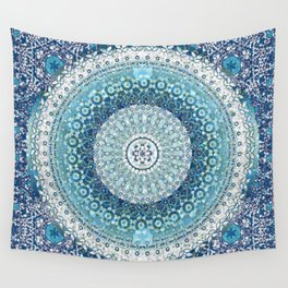 Teal Tapestry Mandala Wall Tapestry
