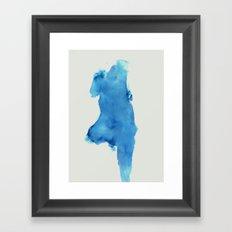 Blue Body. Framed Art Print