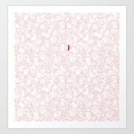 Sneaky Red Sock Art Print