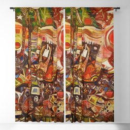 African-American Classical Masterpiece 'Devils Descending' by Alexander Skunder Boghossian Blackout Curtain