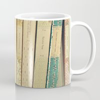 bath Mugs featuring Old Books by Cassia Beck