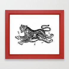 Tiger Skull Framed Art Print