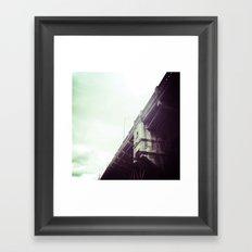 BURNSIDE BRIDGE, DOWNTOWN PORTLAND, OR Framed Art Print