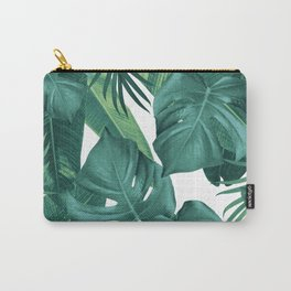 Tropical Summer Jungle Leaves Dream #2 #tropical #decor #art #society6 Carry-All Pouch