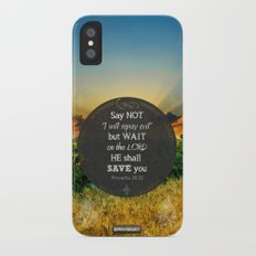 Proverbs 20:22 Wait on the Lord Slim Case iPhone X