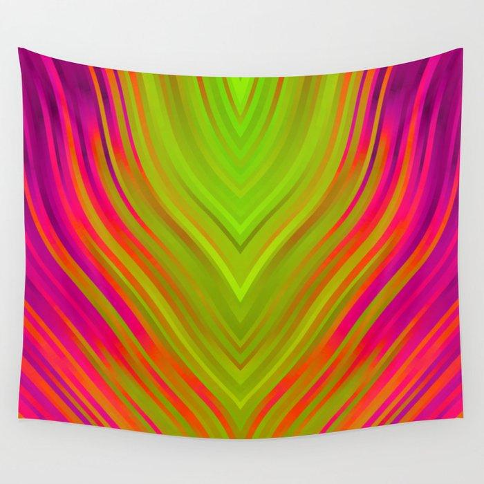stripes wave pattern 3 w81 Wall Tapestry
