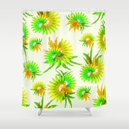 Exotic various tropical leaves pattern Shower Curtain